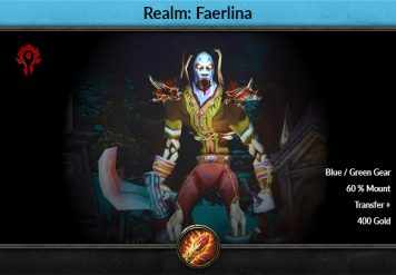 Classic Account Level 60 Mage Faerlina Horde