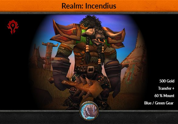 Incendius Horde Classic Account Level 60 Druid