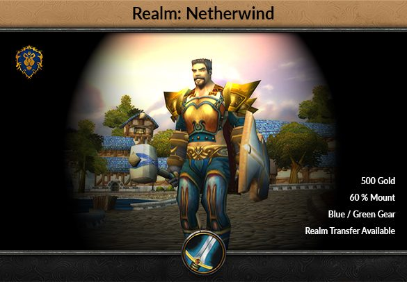 classic warrior account netherwind alliance